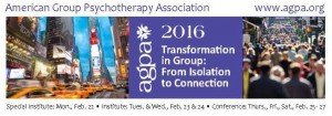Transformation in Group: From Isolation to Connection – AGPA Annual Meeting, Fevereiro 22-27, 2016, Nova York